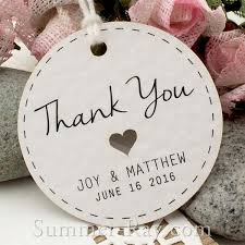wedding tags personalized white wedding favor tags thank you tags gift tags