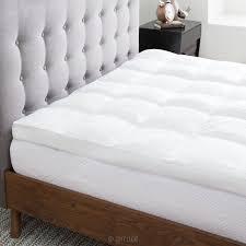 amazon com lucid plush down alternative fiber bed topper
