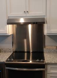 interior kitchen stainless steel range hood backsplash for