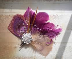 fascinators hair accessories plum purple bridal feather facinator peacock hair