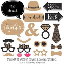 wedding photo booth props better together wedding photo booth props kit 20 count