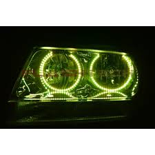 light green jeep cherokee jeep grand cherokee round v 3 color change led halo headlight kit