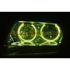 light green jeep cherokee jeep grand cherokee round v 3 color change led halo headlight kit