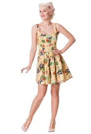 becky dress hell bunny sand becky mini dress monkey wrench clothing