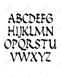 calligraphy penmanship letter stencils numbers and custom made to