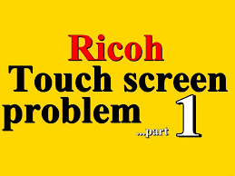 ricoh aficio touch screen display panel problem part 1 97 95
