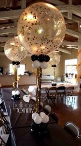 clear 3 foot balloons jazzed up with confetti an elegant