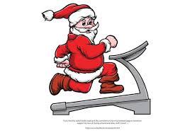 merry fitness santa vector free vector stock
