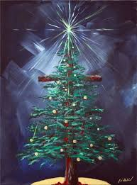 The Christmas Tree In The Bible - 25 unique christmas canvas paintings ideas on pinterest