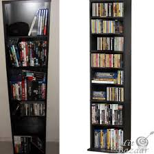 Media Storage Cabinet 55 Dvd Shelves Organizer Dvd Storage Cabinet Cd Games Media Wood