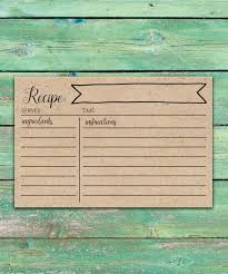 printable recipe cards 4 x 6 rustic bridal shower recipe cards printable recipe cards 4x6 rustic