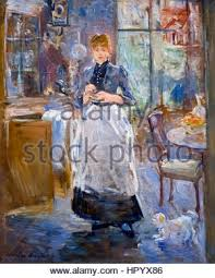 Berthe Morisot  French Painter Impressionism Peasant - Berthe morisot in the dining room