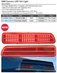 1969 camaro tail lights chevy camaro lights and assemblies