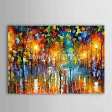 canvas picture hand painted modern knife landscape wall painting