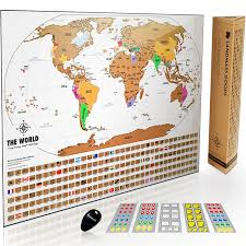 Ups Ground Shipping Map Amazon Com Landmass Scratch Off World Map Poster Original