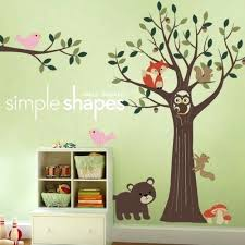 Nursery Wall Tree Decals Bedroom Wall Tree Decals Tree With Forest Friends Decal Set