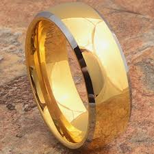 wedding ring reviews men s tungsten ring 14k gold wedding band beveled lwr jewelry