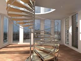 Apartment Stairs Design Spiral Stair Design For Beautiful Apartment Interior With Wood