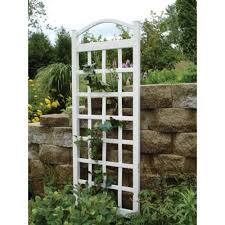 dura trel 76 in x 28 in white vinyl pvc cambridge trellis 11172