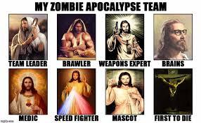 Zombie Jesus Meme - team christos time to rock n roll imgflip