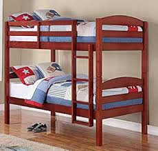 Cherry Bunk Bed Mainstays Wood Bunk Bed Cherry