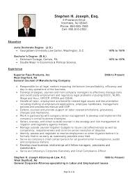 lawyer resume stephen h joseph resume labor and employment