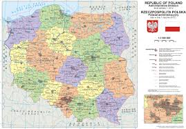 Map Poland Large Detailed Political And Administrative Map Of Poland With All