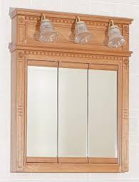 oak medicine cabinet with lights home design