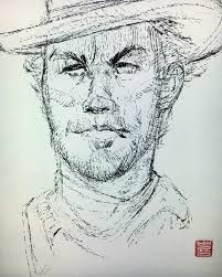 the art of ki innis clint eastwood sketch