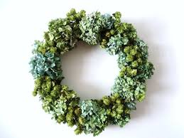 dried hydrangea and hop wreath great designs with flowers