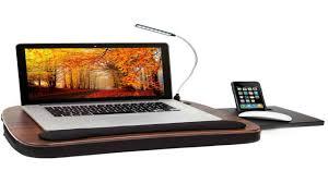Laptop Knee Desk by Sofia Sam Multi Tasking Memory Foam Lap Desk Black Top Supports