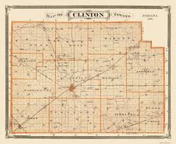 Warren Michigan Map by Old County Map Clinton Indiana Landowner 1876