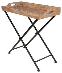 Folding Tv Tray Table Marmora Foldable Tray Table With Removeable Top Rustic Wood