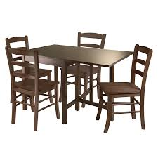 rectangular dining room tables with leaves amazon com winsome lynden 3 piece dining table with 2 ladder