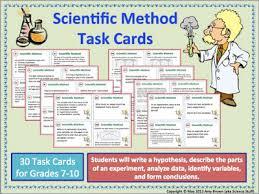 amy brown science scientific method task cards