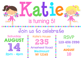 cheerleading birthday invitation cheer birthday invitation