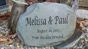engraved wedding gift custom engraved wedding anniversary stones a message in