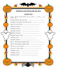17 halloween office potluck signup sheet halloween party