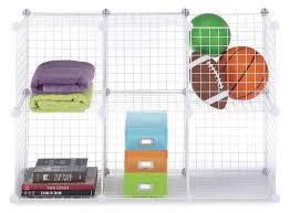 amazon com whitmor storage cubes s 6 white wire home u0026 kitchen