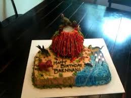 brennan u0027s 5th birthday dinosaur volcano cake youtube