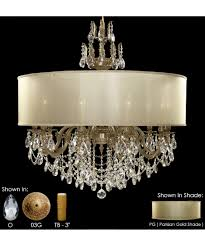 Crystal And Gold Chandelier American Brass And Crystal Ch6578 Llydia 36 Inch Wide 12 Light