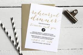 custom invites black white and gold rehearsal dinner invitations formal