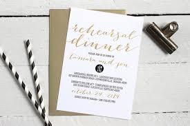 Custom Invites Black White And Gold Rehearsal Dinner Invitations Formal