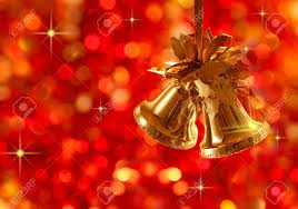Christmas Tree With Gold Decorations Gold Christmas Tree Decorations On Lights Background Stock Photo