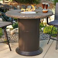 outdoor greatroom fire table outdoor greatroom 48 in colonial bar height fire pit table with wish