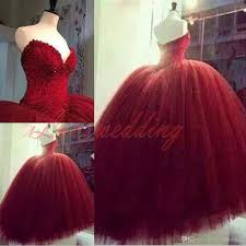 burgundy gothic red tulle ball gown wedding dresses 2015 plus size