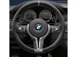 bmw m performance wheel m performance steering wheel alcantara carbon fiber with blue