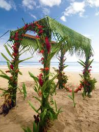 wedding arch leaves beautiful wedding arch with braided palm leaves and vibrant