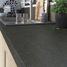 plan de travail cuisine noir plan de travail stratifié noir mat l 315 x p 65 cm ep 38 mm
