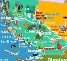 san francisco map sightseeing map of california